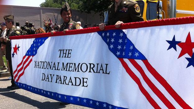 Marchers in the annual Memorial Day Parade in downtown D.C. The 2012 parade highlighted the service of veterans of the Iraq war.