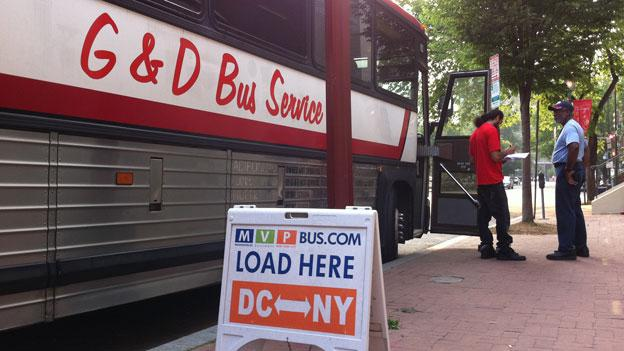 Various low-cost bus companies operating in D.C. used to just pull up to a curb and load passengers; now, they'll be leaving from Union Station in D.C.