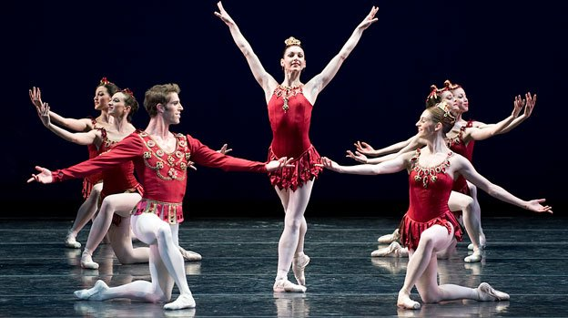 Boston Ballet performs Rubies from George Balanchine's Jewels.