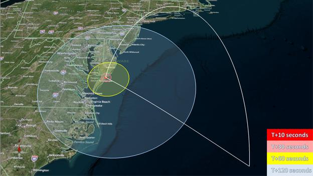 If all goes as planned, D.C. residents will be able to see the rocket to the southeast shortly after launch.