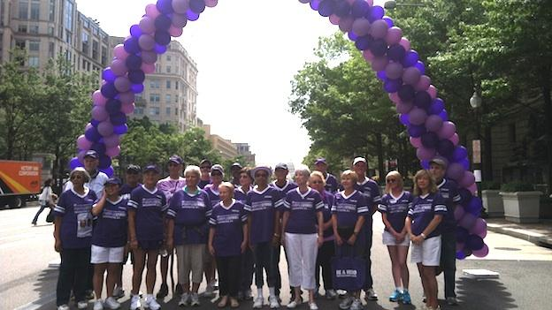 Thousands of participants came out to the Purple Stride parade Saturday, including 39 pancreatic cancer survivors.