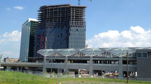 Developers hope the work in Tysons Corner will pay off when the Silver Line opens, likely later this summer.