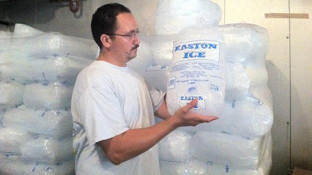 An employee at Capital Ice in the District says there's about 15,000 pounds of ice in their warehouse.