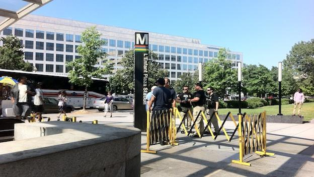 Metro officials stepped up security Friday evening with Blue Tide officers.