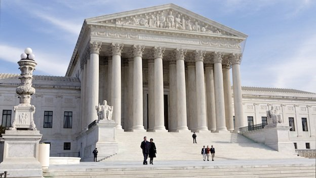 This file photo shows the U.S. Supreme Court Building in Washington.
