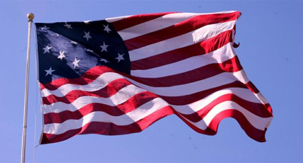 The American flag that flew during the War of 1812, remembered in the song The Star-Spangled Banner.