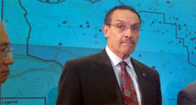 D.C. Mayor Vincent Gray takes Pepco to task during a press conference July 2.