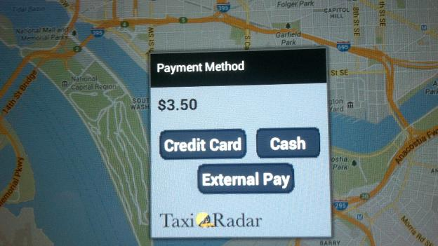 Cab drivers will utilize tablets to allow riders to choose their method of payment.