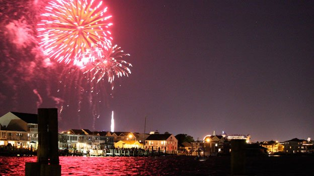 Ocean City's July 4 fireworks have been pushed back to Saturday to avoid Hurricane Arthur.