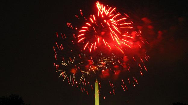 Fireworks on the National Mall in 2009.