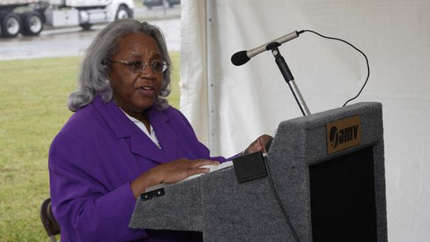 State Senator Yvonne Miller speaks at an event in 2010. Miller passed away this week at the age of 78.