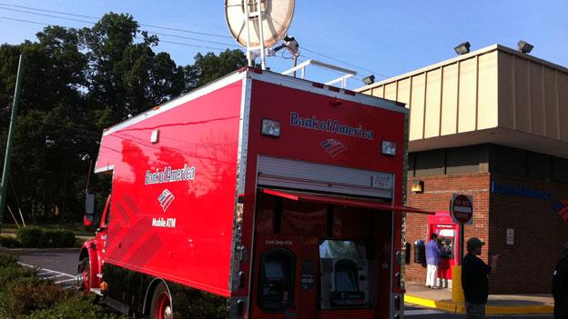 Besides this truck in Bethesda, there are only six mobile Bank of American ATM vehicles nationwide.