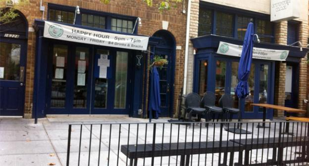 The outdoor patio outside Hank's Oyster Bar remains closed after neighbors filed a complaint.