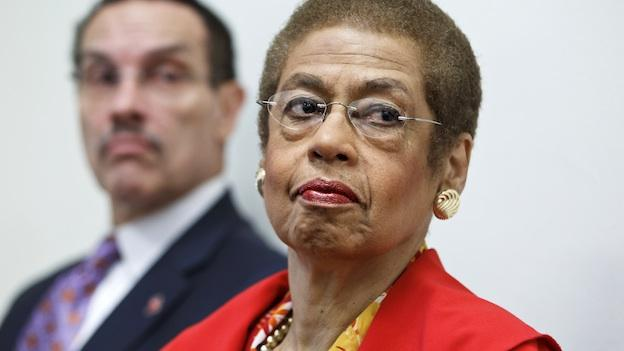 Del. Eleanor Holmes Norton, D-D.C., a non-voting delegate in the House of Representatives, is joined by Washington, D.C. Mayor Vincent Gray at a news conference on Capitol Hill in Washington, Tuesday, May 29, 2012.