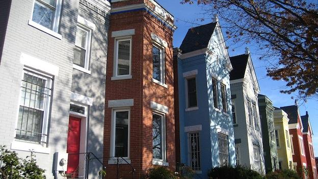 A group of row houses in Georgetown.