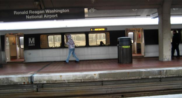 There will be no coming or going from the Reagan National Metro stop this weekend.