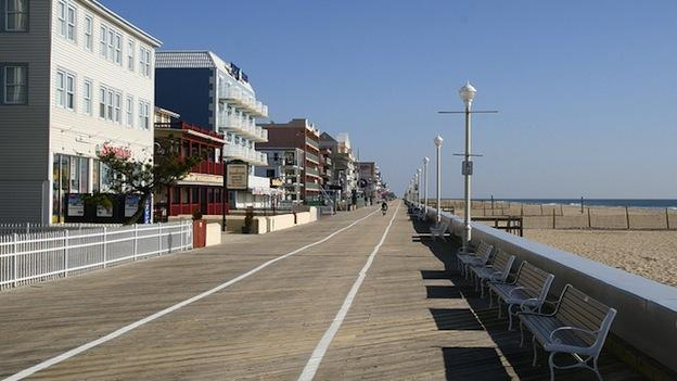 The boardwalk in Ocean City, Md.