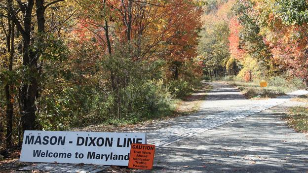 The line between the North and South is technically Maryland's northern border, but the D.C. region defies easy categorization.
