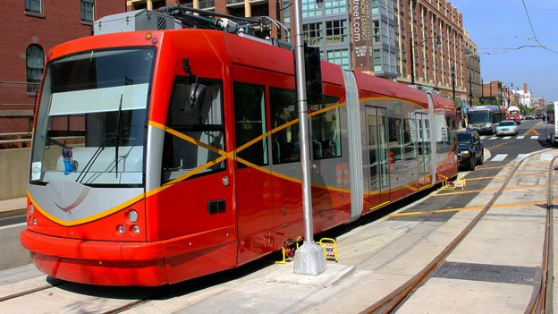 A streetcar being tested on Hopscotch Bridge on H Street Northeast will soon be a more common sight along the busy retail corridor.