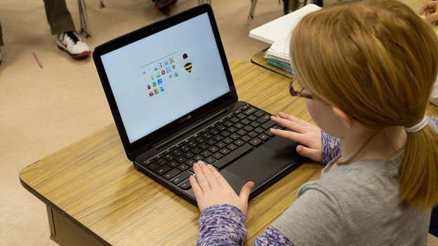 A student using a Chromebook, much like the ones that will soon be a common sight in Montgomery County classrooms.