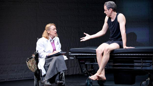 Patricia Wettig as Dr. Emma Brookner and Patrick Breen as Ned Weeks in The Normal Heart at Arena Stage.