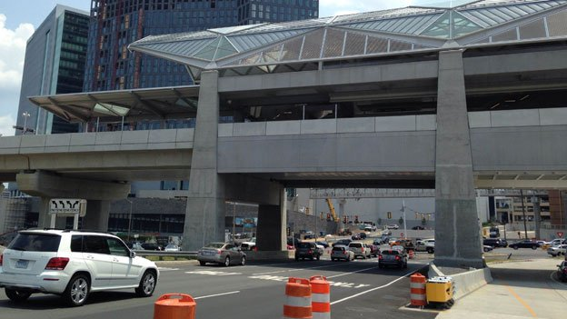 The Tysons Corner metro stations will soon begin bustling with rail traffic, but for pedestrians, it's a challenge to get there.