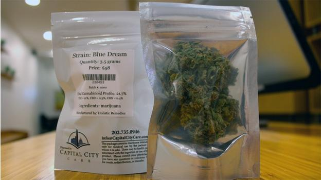 A small sample of medical marijuana available at Capital City Care, D.C.'s first legal dispensary.