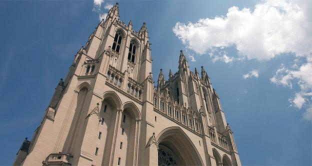 A National Cathedral organ was found splattered with green paint Monday.