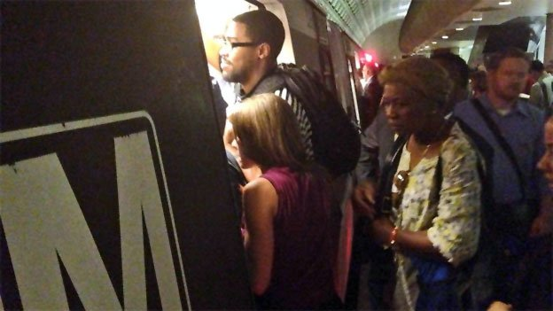 The start of Silver Line service has meant fewer, more crowded trains on the Blue Line.