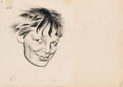 Hugo Gellert's portrait of Amelia Earhart is part of One Life at the National Portrait Gallery.