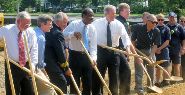 Montgomery County officials broke ground Thursday on the new Travilah Fire Station.