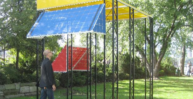 Patrick McDonough's ventures into the world of awnings are showing in Northeast's Marvin Gaye Park.