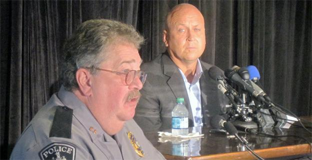 Cal Ripken Jr. spoke at a press conference with Aberdeen police, asking for public input in finding his mother's kidnaper.