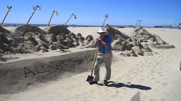 Randy Hofman has been making sand sculptures in Ocean City for over 30 years.