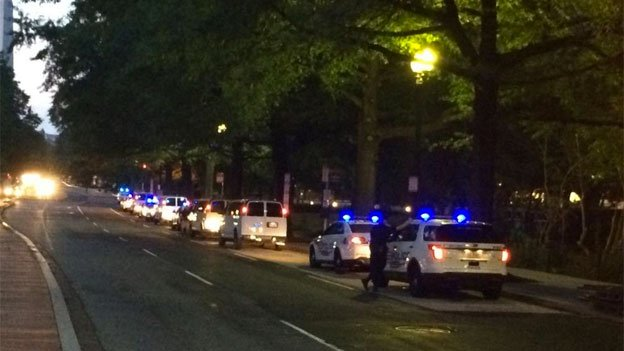 There are plenty of rolling street closures downtown as police escort leaders of 40 African nations during the summit.