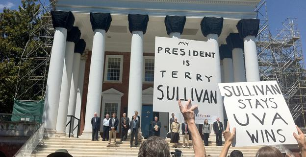 Supporters of UVA President Teresa Sullivan helped push through her reinstatement, and also appear to have helped fill the school's coffers.