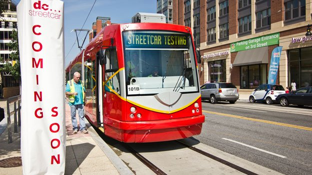 Streetcars traveled down H Street NE today on the first day of operator training.