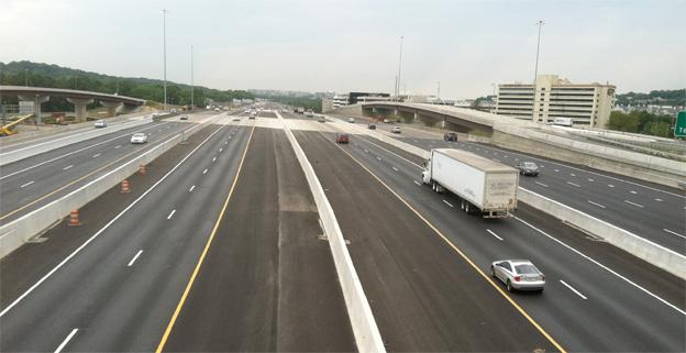 With five lanes in each direction, the Woodrow Wilson Bridge should be less of a bottleneck for commuters.