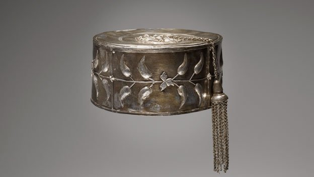 Temne, Sierra Leone, Hat with tassel, early 20th century, Silver, 3 13/16 x 7 9/16 x 6 1/2 in. (9.68 x 19.21 x 16.51 cm.), Minneapolis Institute of Arts, Gift of William Siegmann 2011.70.29