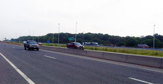 The site of the groundbreaking on I-95 on Tuesday, which will mean lane improvements and a third, high-occupancy toll lane.