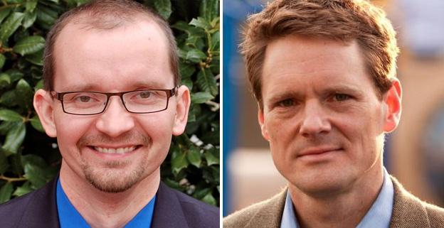 Republican Tim McGhee, left, and Democrat Rob Krupicka, right, are vying for the seat in the 45th district, vacated by David Englin in June.