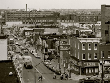 A rooftop view of East Baltimore, 1979.