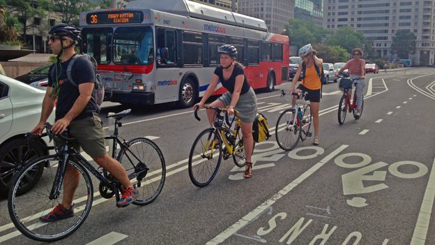 Illegal U-Turns have plagued the Pennsylvania Avenue cycle track — the District's most visible bike lanes.