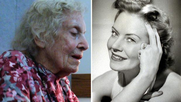 Marianne Arden at age 99 on the left, and 70 years earlier in 1942.