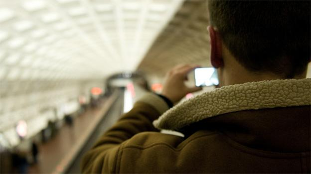 Situational awareness is necessary for those operating mobile devices on the Metro.