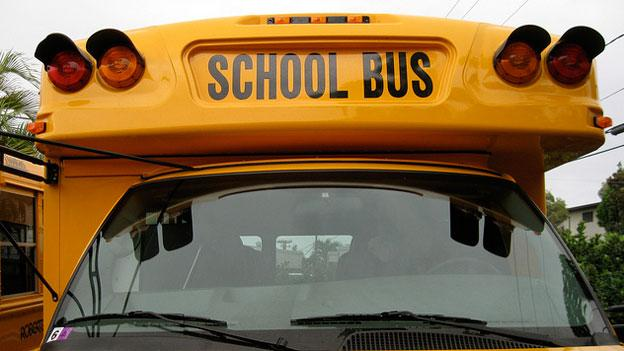 The big yellow school bus is not as ubiquitous in D.C. as in most other school bus.
