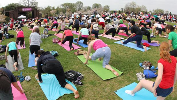 Unlike the Lululemon Athletica program on the National Mall, most paid fitness activities and classes that take place in city parks outdoors in D.C. are against the law.