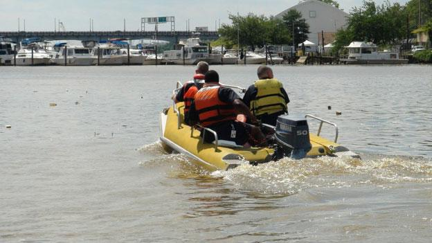 A crew out on the Anacostia River, which is now benefitting from funding provided by D.C.'s plastic bag tax.