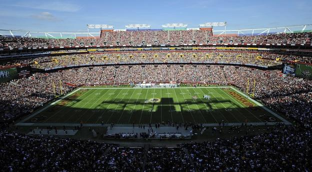 FedEx Field is seen in this general view during the first half of an NFL football game between the Washington Redskins and the Carolina Panthers Sunday, Nov. 4, 2012, in Landover, Md.