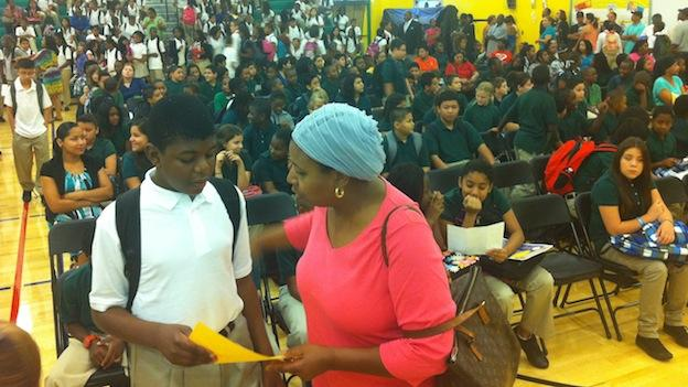Today is the first day of school for students at the newly opened Greenbelt Middle School in Prince George's County.